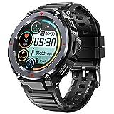 EIGIIS Smartwatch, Orologio Sportivo Tattici Militare Impermeabile con Bluetooth, Contapassi, Tracker di Attività con Cronometro, Fitness Tracker Watch Lunga Durata della Batteria