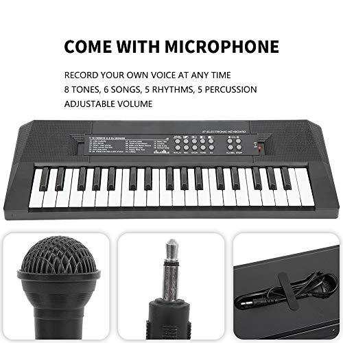 Elektrische Tastatur tragbare 37 Key Piano mit Mikrofon und Aufnahmefunktion Klavier Keyboard Musikinstrument Geschenk Spielzeug für Kinder und Anfänger