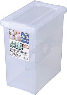 天馬(Tenma) 書籍収納ボックス クリア A4雑誌サイズ 幅18.5×奥行30.5×高さ32.5cm A4・雑誌いれと庫