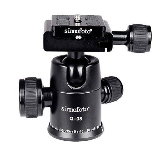 ODWARF Q08U Exquisite CNC Shaped Camera Tripod Ball Head with 1/4 Arca Swiss Quick Fast Plate Includes Bubble Level, Max Loading 26.45lbs Ballhead for Tripod,Monopod,Slider,DSLR Camera,Camcorder