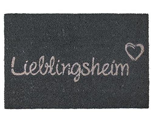Out of the blue Fußmatte, Kokosfasern Kunststoff, Grau, 61 x 40 x 2 cm