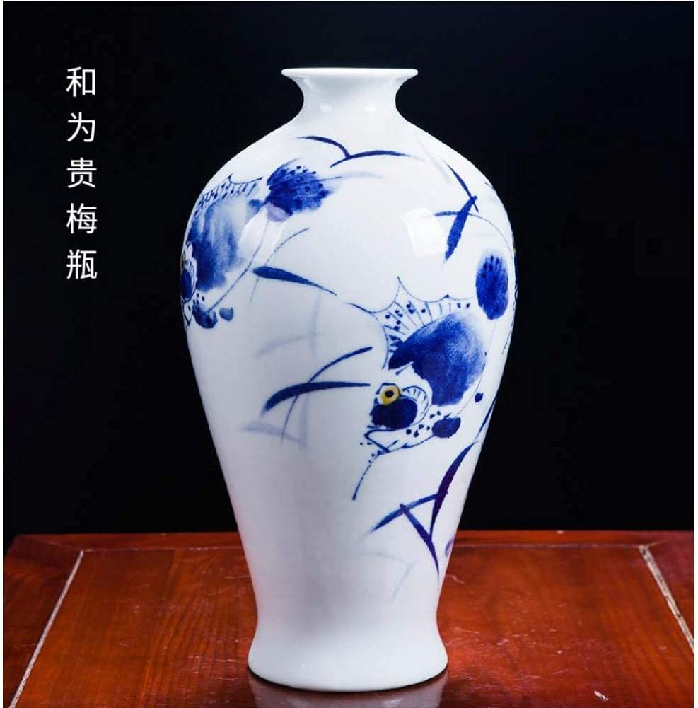 GST Ceramics Challenge the lowest price of Japan ☆ Masters Hand-Painted Blue and Porcelain Manufacturer OFFicial shop White Vases