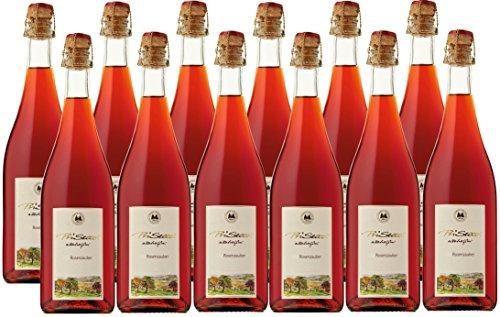 Prisecco alkoholfrei Rosenzauber - Manufaktur Jörg Geiger - 0,75 l - 12er Paket