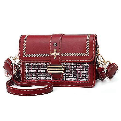 Myhozee Borsa a Tracolla Spalla Donna Elegante Borsa da donna - Borsa Mano PU Pelle Messenger Crossbody Bag Borse a tracolla, Rosso