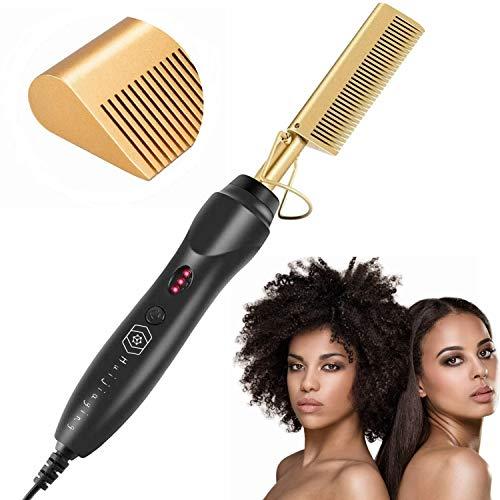 Peine eléctrico eléctrico para el cabello, peine alisador con calor y peine, alisador, 3 ajustes de temperatura