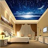 3D Murales Papel Pintado Pared Calcomanías Decoraciones Estrella Nebulosa Cielo Nocturno Techo Dormitorio De Viruela Fondo Galaxy Tema Art º Los Niños Habitación (W)300X(H)210Cm