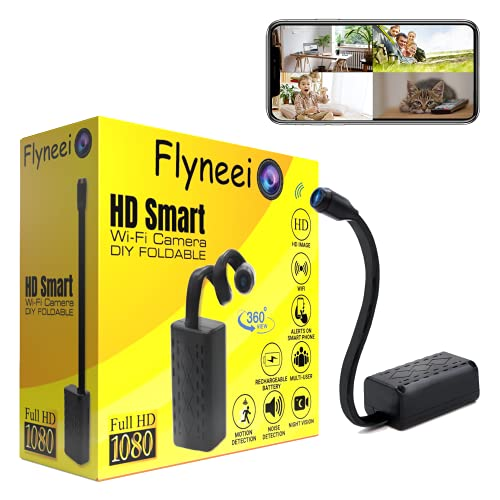 Mini Spy Camera Wireless Hidden Cameras WiFi - 1080P FLL HD Hidden Nanny Cam with Cell Phone App, Small Covert Security Camera with Night Vision Motion Detection for Home/Car/Indoor/Outdoor