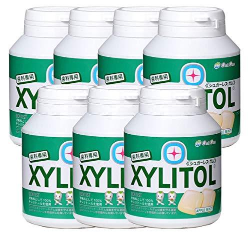 歯科専用 キシリトールガム ボトルタイプ アップルミント(約90粒) 7個セット