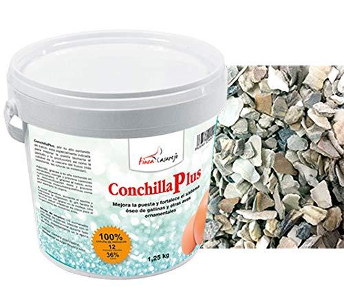 FINCA CASAREJO CONCHILLA Plus 1,25 Kg - Conchilla de ostra para gallinas - Mejora Calidad del Huevo - Previene carencias nutricionales - Facilita digestión del Ave (Ref. XCP1)