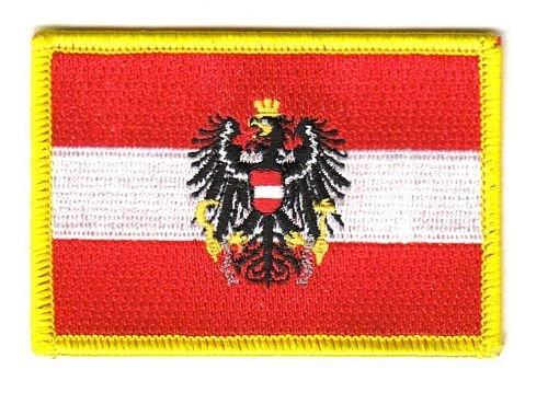 Flaggen Aufnäher Patch Österreich mit Wappen Fahne NEU
