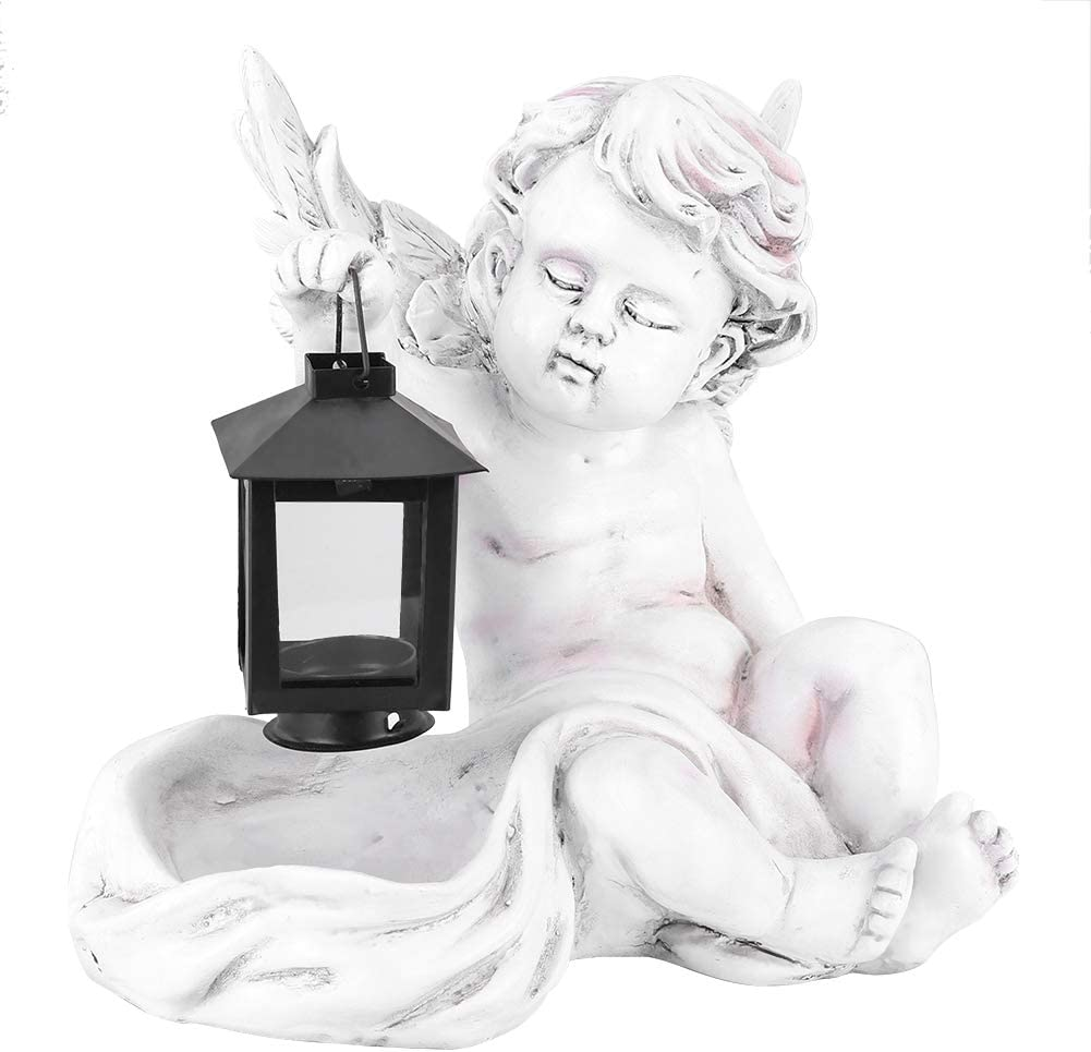 Animer and price Nashville-Davidson Mall revision Camidy Solar Angel Statue Light Lantern Outdoor Fair with