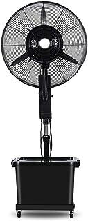 Fan Ventilador de refrigeración Base del Motor de agitación Vertical de humidificadores de Vapor Ventilador Industrial al Aire Libre, Regulable en Altura, Velocidad 3 Tanque 42L