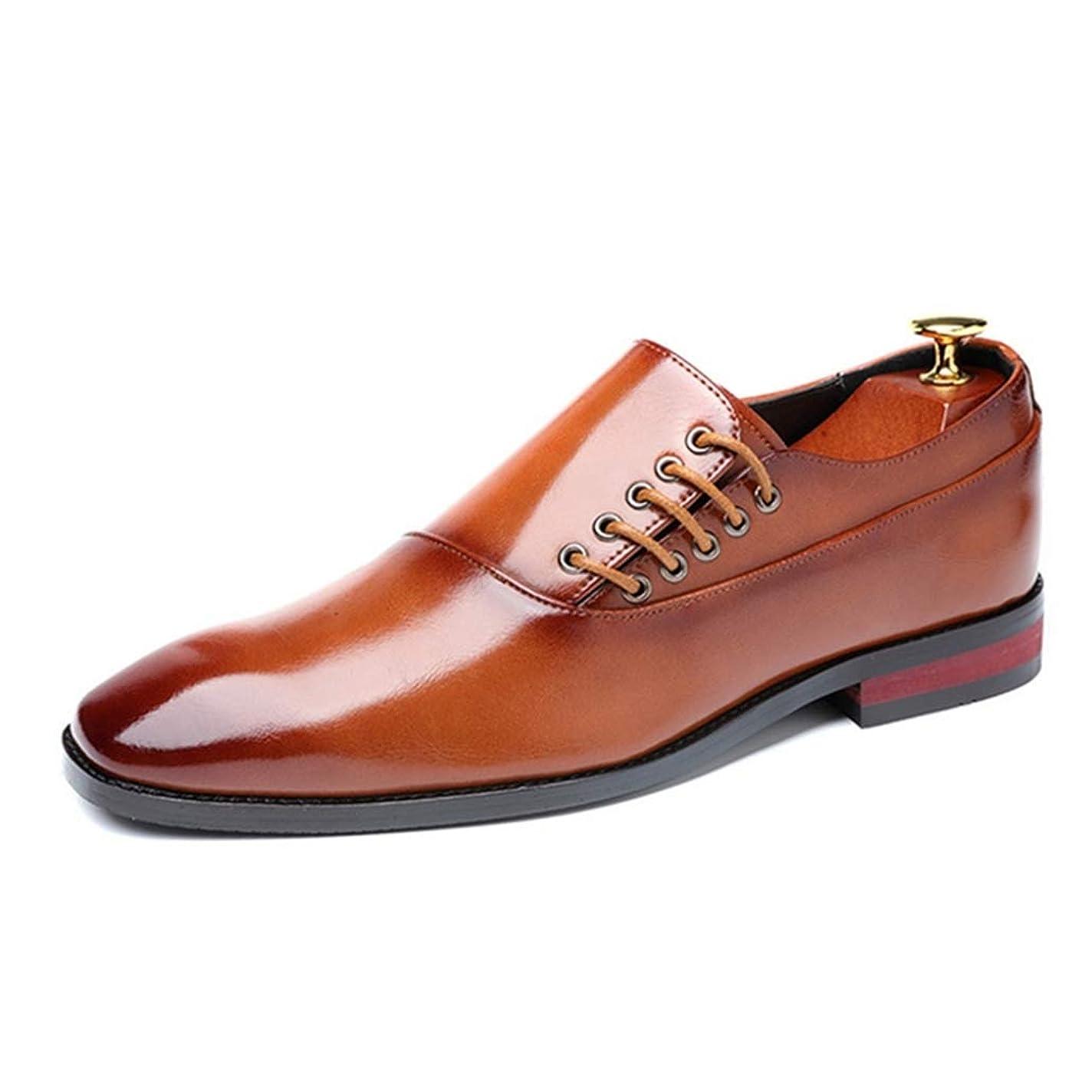 実際出席旋回[VRGT] ビジネスシューズ メンズ レースアップ 革靴 プレーントゥ 内羽根 通気 紳士靴 ドレスシューズ フォーマル 結婚式 疲れにくい オフィス 通勤 歩きやすい 大人 カジュアル パーティー 滑りにくい 入社式 デート お見合い