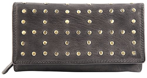Raptor Damen - Geldbörse Echt Leder Portemonnaie Brieftasche 19x10cm RA40016