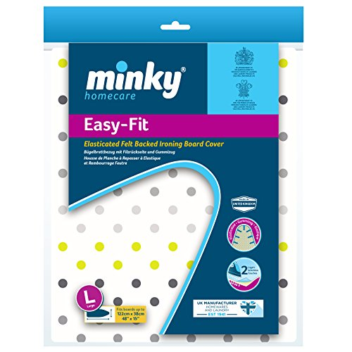 Minky Easy Large Ironing Cover fits Boards, Assorted Designs, 122 x 38 cm