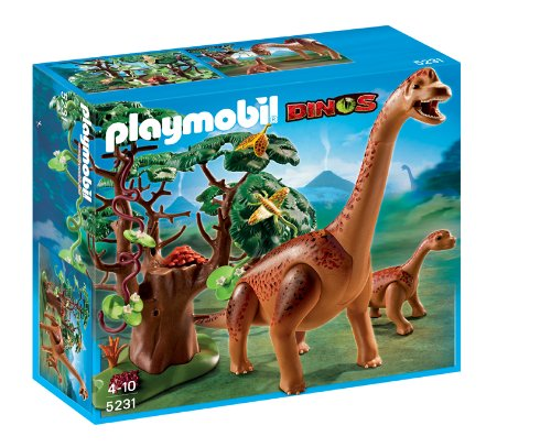 PLAYMOBIL - Braquiosaurius con bebé 5231