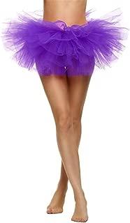 Womens Girls Elastic Stretchy Tulle Tutu Skirt Classic 5 Layer Adult Mini Skirt