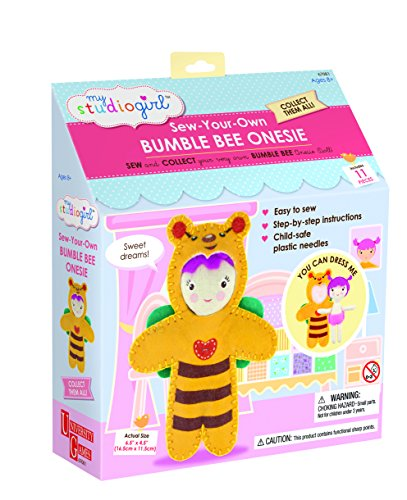 Mon studio Girl - Coudre-Your-Own Bumble Bee Onesie Doll - Jeux Universitaires