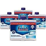 Finish Limpiamáquinas - Limpieza higiénica para el lavavajillas contra el mal olor, la cal y la grasa - 4 Unidades