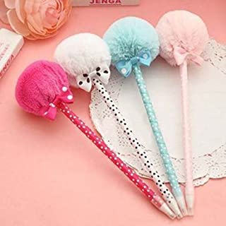 DoDoo Set of 6 Ballpoint Pens 0.5mm Blue Ink Cute Bow Lollipop Style Prizes Gifts For Girls