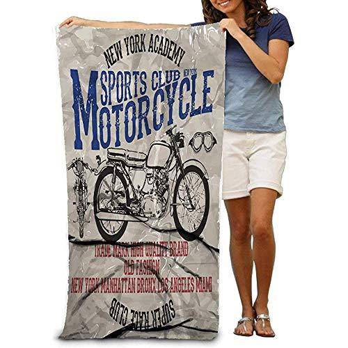 Hancal Toallas de baño Motociclismo Carreras Calavera Old School Bicicleta Toallas de Playa