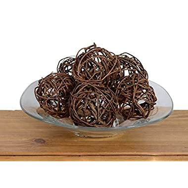 Set of 6 Natural Vine Balls 4 Inches Diameter, Bowl and Vase Filler