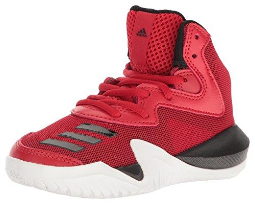 adidas Crazy Team Basketball Shoe, Scarlet/Black/White, 10.5K M US Little Kid