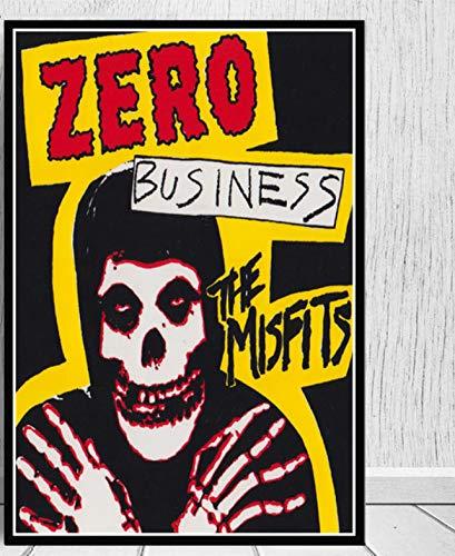 Misfits Poster Horror Rockmusik Retro Poster Und Drucke Leinwand Malerei Wandkunst Bild Für Wohnzimmer Wohnkultur 42X60 cm Ohne Rahmen