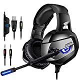 ONIKUMA Casque Gaming, Casque PS4 Xbox One PC Casque Gamer Son 7.1 Surround +...