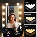 Vansky Upgraded 3 Color Modes LED Lights Makeup Mirror