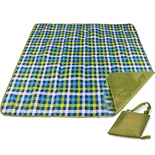 Redcamp Picknickdecke, 195 x 200 cm, große Taschendecke, hitzebeständig, sanddicht, mit wasserdichter Rückseite, für Camping, Outdoor, Garten, Strand, Reisen, Wandern, Schottenkaro