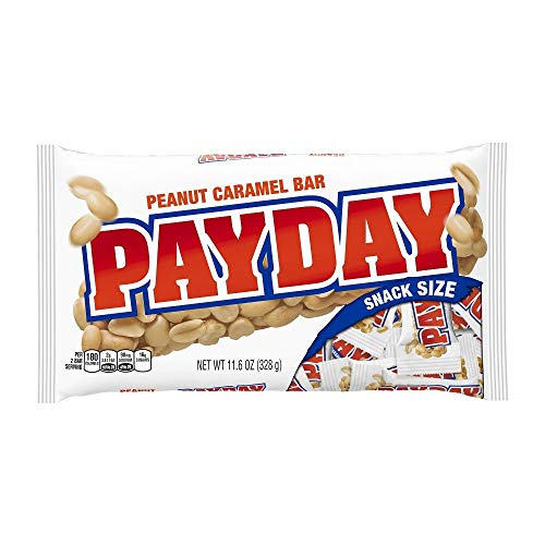 PAY DAY CANDY BARS SNACK SIZE BAG 11.6 OZ