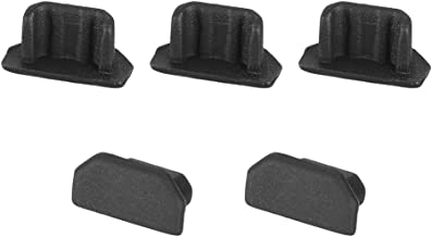 uxcell Silicone Micro USB Anti-Dust Stopper Cap Cover Black 5pcs