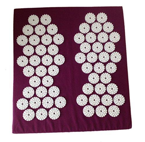 tapis de pied d'acupression, 31x35x5 cm, 62 Gyro de stimulation avec chaque 33 Affiler