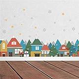 MMLXHH Wandaufkleber Weihnachten Winter Schnee Stadt Haus