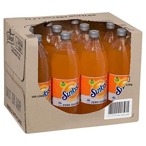 Sunkist Zero Sugar Soft Drink, 12 x 1.25L