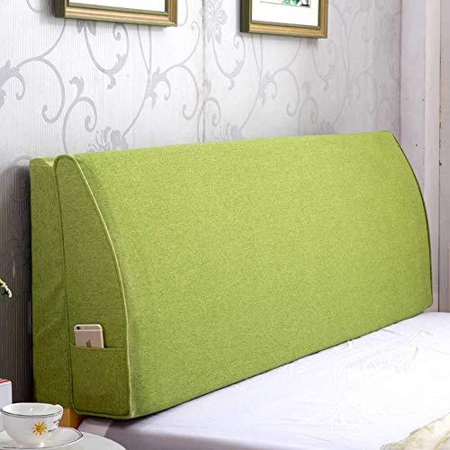 J-Kissen Premium-Dreieck Bett liest Rückenkissen Kissen, Bettkeilkissen Polsterkopfteil gefülltes Kissen Doppelrückenkissen Removable (Color : Pink, Size : 200x50x15cm(79x20x6inch))