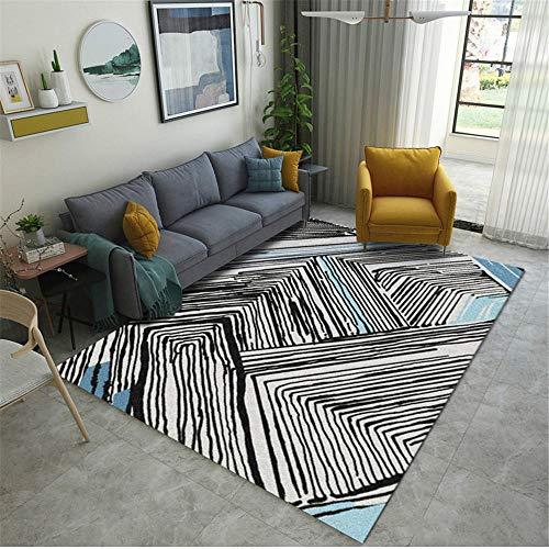 Xiaosua tische Wohnzimmer grau Teppich Wohnzimmer grau Graffiti Nadelstreifen Muster haltbaren Teppich waschbar Area Rug 100X160CM Rugs for Living Room 3ft 3.4''X5ft 3''