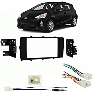 Compatible with Toyota Prius C 2012-2017 Double DIN Stereo Harness Radio Install Dash Kit