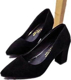 [ninifashion] パンプス レディース シューズ 靴 痛くない ローヒール 美脚パンプス ポインテッドパンプス 通勤用 ビジネス 歩きやすい 22-25cm 走れるパンプス ポインテッド 太ヒール パンプス 無地