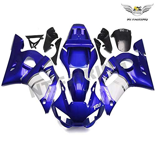 NT Blue White Silver Fairing Fit for YAMAHA 1998-2002 YZF R6 Injection Mold ABS Plastics Aftermarket Bodywork Bodyframe 1999 2000 2001 A058