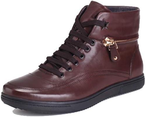Zapatos para hombres Botines De Moda Confort Encaje Inglaterra Casual High-elástico Senderismo Resistente Al Desgaste