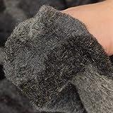 kawenSTOFFE Wollflausch Camouflage anthrazit grau Soft