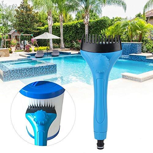 Yusea Pool-Filterreiniger, Handheld-Wasserstab, Schwimmbad- und Spa-Kartuschen-Filterreiniger, Zubehör zum schnellen Entfernen von Schmutz und Schmutz