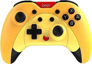 Controle Bluetooth s/fio Vibratório de Seis Eixos Gamepad para Console N-Switch / P3 / Android / PC Win7/8/10 Amarelo