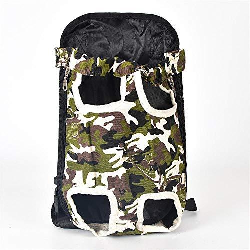 Haijiao Rugzak voor honden, heupfles en rugzak voor honden, XL, Camouflage.