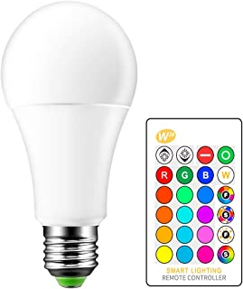 Bombilla LED RGBW, E27 Iluminación de la Atmósfera con Cambio de Color Lámpara LED Flash Estroboscópico Modo de Fundido Luces Decorativas para Bar Hogar KTV-15W, 6000K