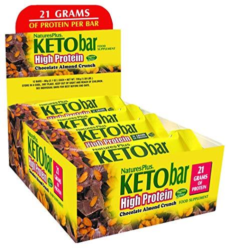 Nature's Plus, KETOslim, High Protein Bar, Chocolate Almond Crunch, 12 Bars