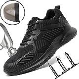 Mljlry Chaussures De Sécurité Homme Embout Acier Protection Confortable Léger Respirante Unisexes Chaussures De Travail 37-46,38