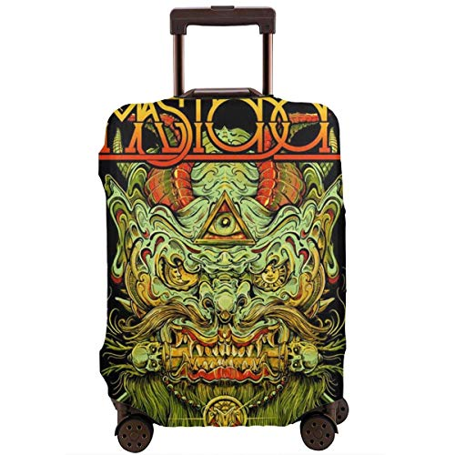 M-astodon Luggage Cover Protector Suitcase Cover Spandex Travel Luggage Cover Anti-Scratch Dustproof Personalized Zipper Travel Suitcase Protector XL